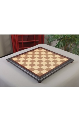 "IMPERFECT - Walnut and Maple Classic Traditional Chess Board - 2.25"" Squares"