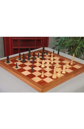 "IMPERFECT -  The Philidor Series Chess Pieces - 4.0"" King - Genuine Ebony & Natural Boxwood"