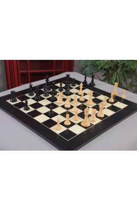 "IMPERFECT The Capablanca Series Luxury Chess Pieces - 4.0"" King - Genuine Ebony & Natural Boxwood"