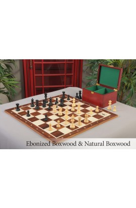 The Library Grandmaster Chess Set & Rosewood Board Combination