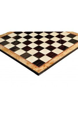 Maple Burl & Ebony Superior Traditional Chess Board - 2.5""