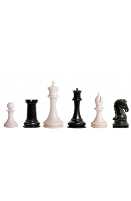"The Mammoth Ivory and Genuine Ebony Collector Series Luxury Chess Pieces - 4.4"" King"