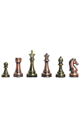"The Candidates Series Chess Pieces - 4.25"" King - Metallic"