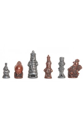 "Alice in Wonderland Chess Pieces - 3.5"" King - Metal"