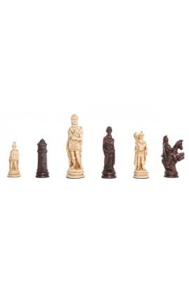 "Roman Themed Chess Pieces - 4.25"" King - Brown & Natural"