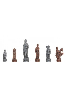 "Roman Themed Chess Pieces - 4.25"" King - Metal"