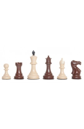 "Staunton Themed Chess Pieces - 3.5"" King - Brown & Natural"