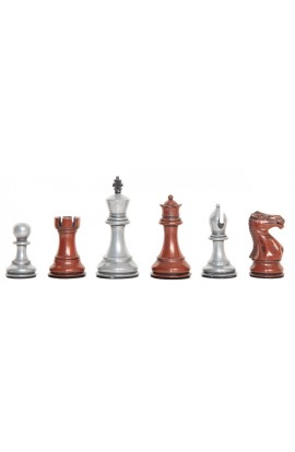 "Staunton Themed Chess Pieces - 3.5"" King - Metal"