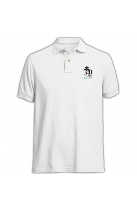 80th Anniversary US Chess Polo Shirt - WHITE
