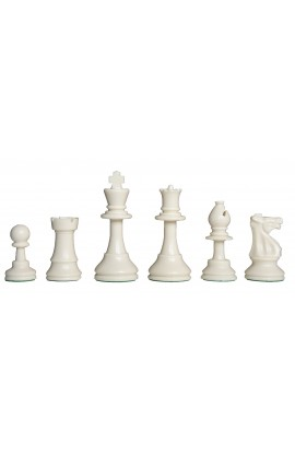 "Solid Regulation Plastic Chess Pieces - 3.75"" King"