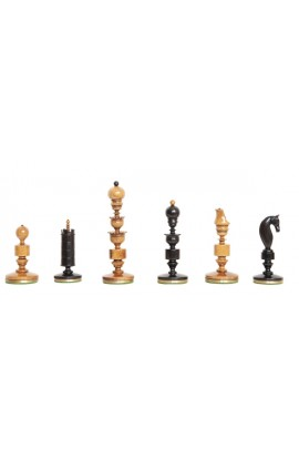 "The Biedermeier Pre-Staunton Vintage Series Luxury Chess Pieces - 4.4"" King"