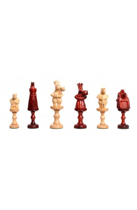 "The Bear Series Luxury Figurine Wood Chess Pieces - 6.0"" King"