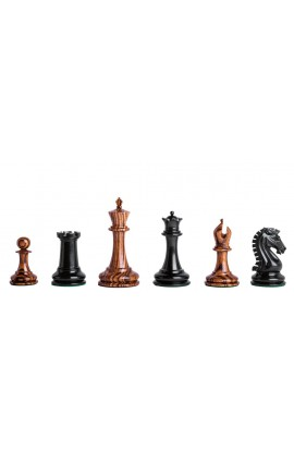 "Camaratta Signature Series Cooke Luxury Chess Pieces With Genuine Ebony - 3.625"" King"