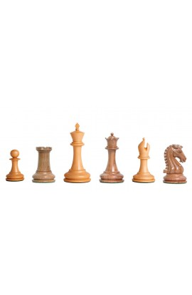 "Camaratta Signature Series Cooke Luxury Chess Pieces With Natural Boxwood - 3.625"" King"