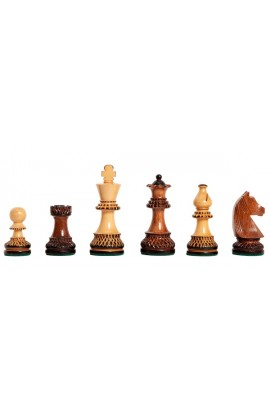 "The Burnt Golden Rosewood Championship Series Chess Pieces - 3.75"" King"