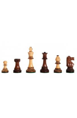 """The Burnt Golden Rosewood Club Series Chess Pieces - 3.75"""" King"""