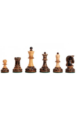 "The Burnt Dubrovnik Chess Pieces - 3.75"" King"