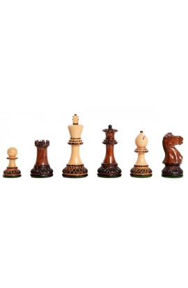 """The Burnt Golden Rosewood Grandmaster II Series Chess Pieces - 4.0"""" King"""