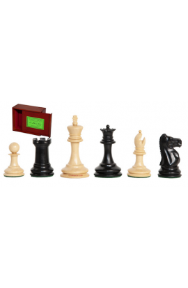 "The Lasker Series Library Chess Pieces - 2.875"" King - Includes Free Slide-Top Box"