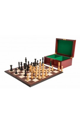 "The 6"" St. Petersburg Series Chess Set, Box, & Board Combination"