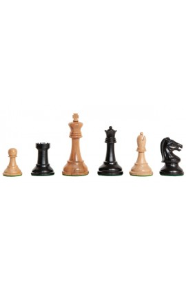 """The Exotique Collection® - Reproduction of the Drueke Players Choice Chess Pieces - 3.75"""" King - With Genuine Ebony"""