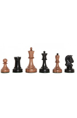 "The Exotique Collection® - The Dubrovnik Series Luxury Chess Pieces - 3.75"" King - With Genuine Ebony"