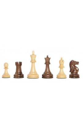 "The Exotique Collection® - The Fischer Spassky Series Luxury Chess Pieces - 3.75"" King - With Natural Boxwood"