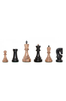 "The Exotique Collection® - The Zagreb Series Luxury Chess Pieces - 3.875"" King - With Genuine Ebony"