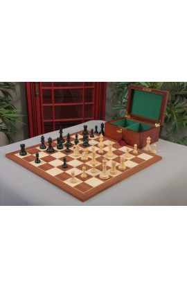 """The New Fischer Spassky Series Chess Set, Box & Board Combination - 3.75"""" King"""
