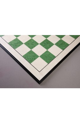 "CLEARANCE - Bird's Eye Maple and Greenwood Standard Traditional Chess Board - 3.0"" - Black Frame"