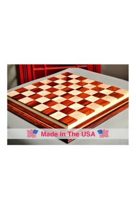 "Signature Contemporary IV Luxury Chess board - COCOBOLO / CURLY MAPLE - 2.5"" Squares"