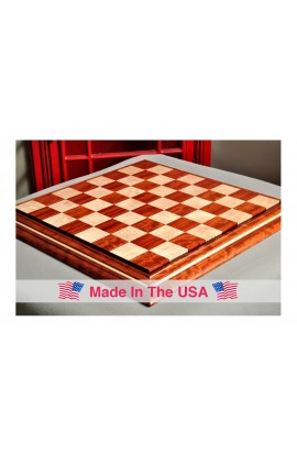 "Signature Contemporary II Chess Board - Bubinga/ Curly Maple - 2.5"" Squares"