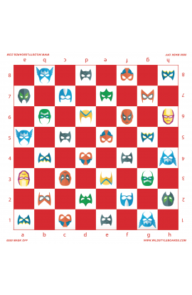 Mask Off - Full Color Vinyl Chess Board