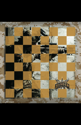 Army Ranger - Full Color Vinyl Chess Board