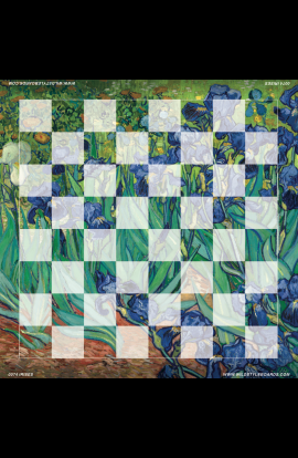 Irises - Full Color Vinyl Chess Board