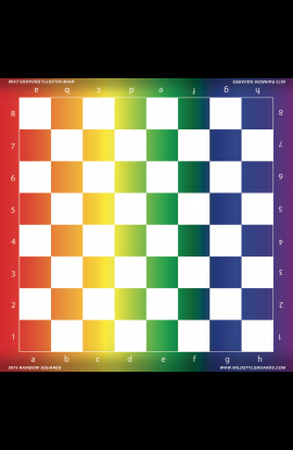 Rainbow Squares - Full Color Vinyl Chess Board