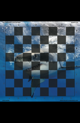 Shark - Full Color Vinyl Chess Board