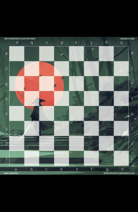 Samurai - Full Color Vinyl Chess Board