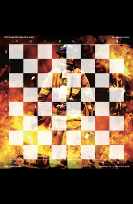 Firefighter - Full Color Vinyl Chess Board
