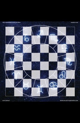 Zodiac - Full Color Vinyl Chess Board