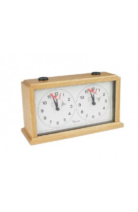 INSA Wooden Mechanical Chess Clock - Light Wood