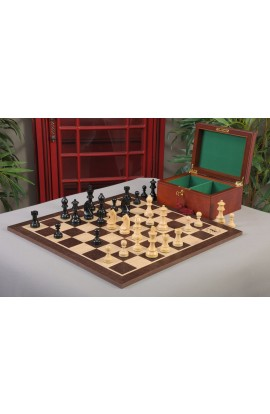"""""""The Queen's Gambit"""" Inspired Chess Set, Box, & Board Combination"""