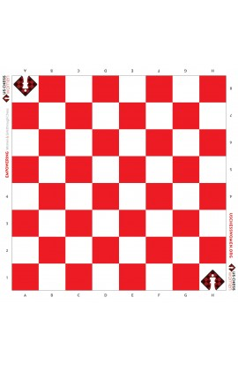 US Chess Women - Full Color Vinyl Chess Board - Red/White