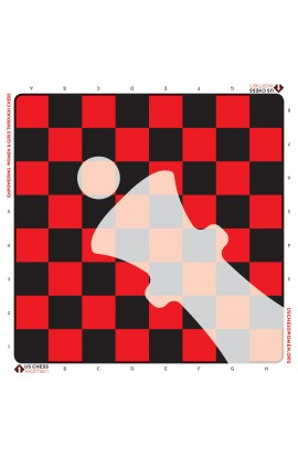 US Chess Women - Full Color Vinyl Chess Board - Red/Black