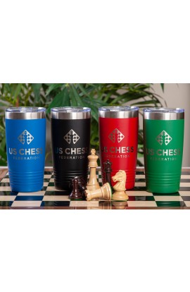 US Chess Federation Engraved 20 oz. Tumbler