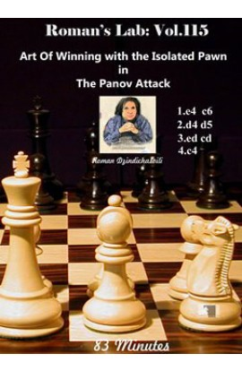 E-DVD ROMAN'S LAB - VOLUME 115 - Art Of Winning with the Isolated Pawn in The Panov Attack