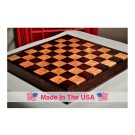 """Custom Contemporary Chess Board - African Palisander / Maple Burl - 2.5"""" Squares"""