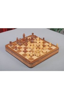 "IMPERFECT - WOODEN MAGNETIC Travel Chess Set - 12"" Square"