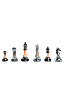 "The Contemporary Series Plastic Chess Pieces - 3.5"" King"