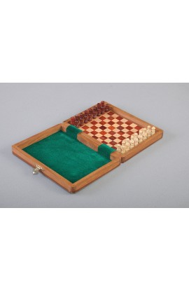 "IMPERFECT - PEG WOODEN Travel Chess Set - 8"" x 6"""